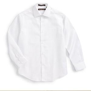 Michael Kors Boys White Dress Shirt